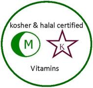 Kosher and Halal certified vitamins