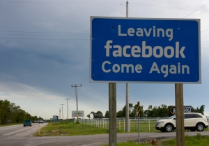 leaving facebook sign