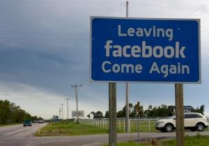 leaving facebook sign