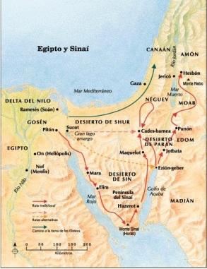 Viaje del pueblo de isrrael